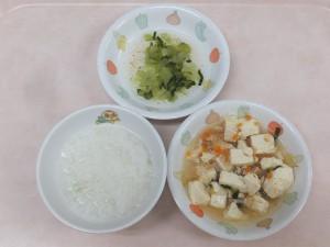 9~11か月 5倍がゆ 麻婆豆腐 小松菜の煮びたし