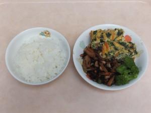 幼児食 ご飯 千草焼き 大豆の磯煮