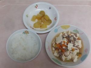 9~11か月 軟飯 いり豆腐 さつま芋の甘煮