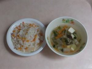 9~11か月 チャーハン軟飯 中華スープ