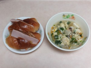 幼児食 フィッシュサンド 中華スープ