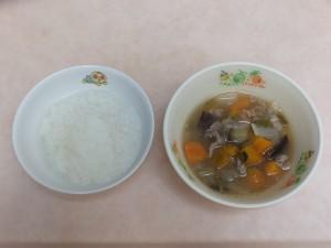 9~11か月 軟飯 野菜スープ