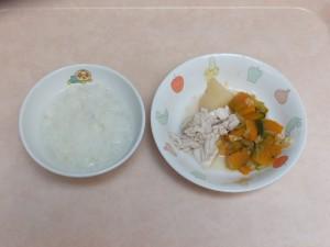 9~11か月 軟飯 煮魚フレーク かぼちゃの旨煮