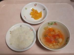 9~11か月 軟飯 トマトスープ オレンジ