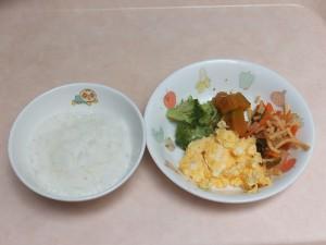 9~11か月 軟飯 ふわふわ卵 スパゲティソテー ブロッコリー かぼちゃ