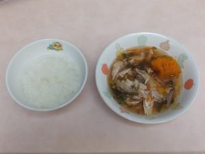 9~11か月 軟飯 魚の野菜あんかけ ほくほく南瓜