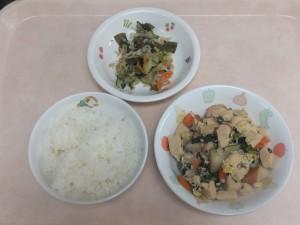 幼児食 ご飯 高野豆腐の卵とじ ゴマ酢和え