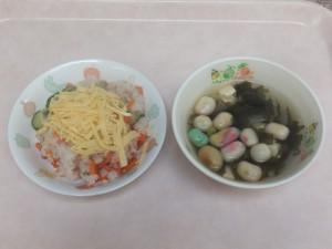 幼児食 鮭寿司 清まし汁