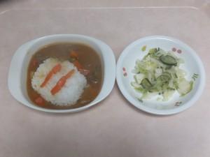 幼児食 カレーライス フレンチサラダ