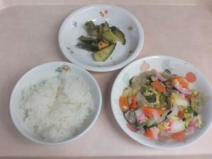 幼児食 ご飯 八宝菜 中華風きゅうり