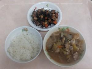 幼児食 ご飯 さつま汁 大豆の磯煮