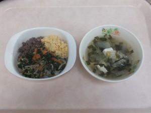 幼児食 ビビンバ 中華スープ