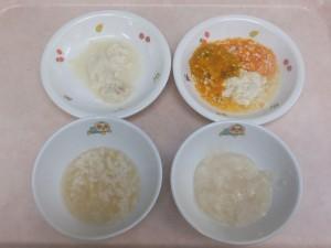 7~8ヶ月離乳食 マッシュ粥 鯛の煮付け 豆腐と野菜の炊き合わせ