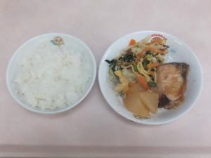 幼児食 ご飯 魚と野菜の味噌煮 千草和え