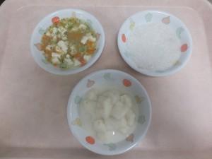 離乳食 パン粥 鯛のにつけ 豆腐とブロッコリーのあんかけ