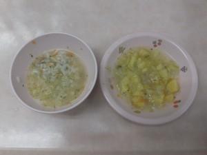 離乳食 五目がゆ さつま芋スープ