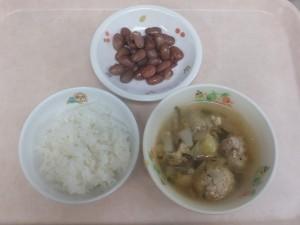 幼児食 ご飯 つくね汁 煮豆