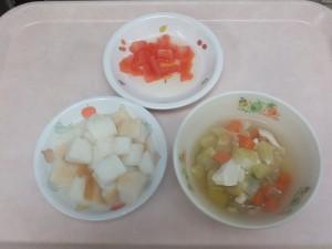 離乳食 パンがゆ 野菜スープ トマト