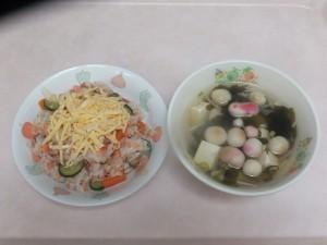 幼児食 鮭寿司 すまし汁