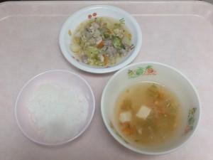 離乳食 おかゆ 鶏肉の野菜あんかけ 五目スープ
