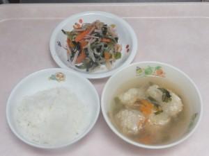 幼児食 ご飯 肉団子スープ ナムル