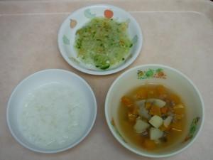 離乳食 おかゆ 具沢山スープ 野菜のとろみあえ