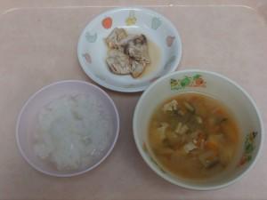 離乳食 おかゆ 魚の煮付け 味噌汁