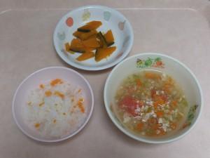 離乳食 人参がゆ 野菜スープ かぼちゃの煮物